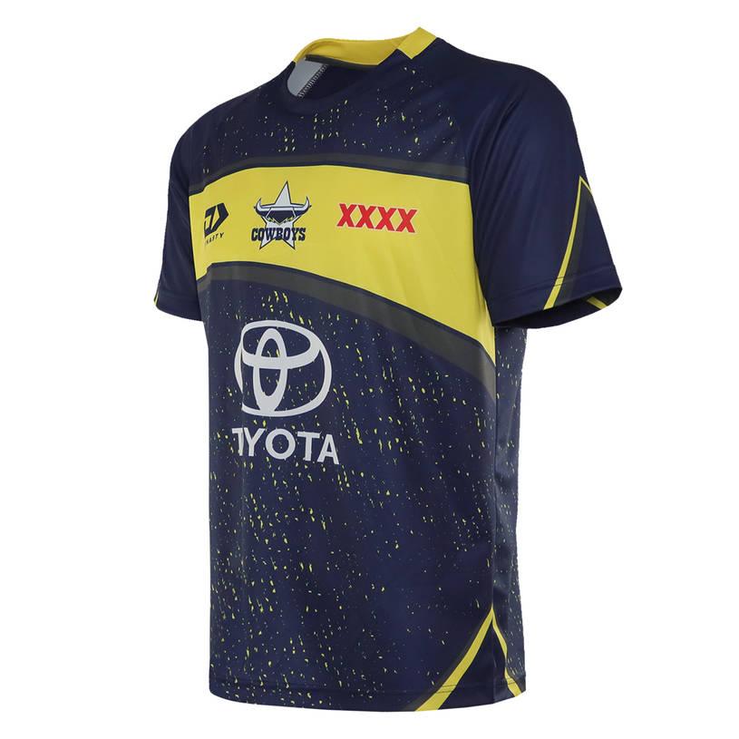 2021 Mens Training Tee - Navy/Yellow1