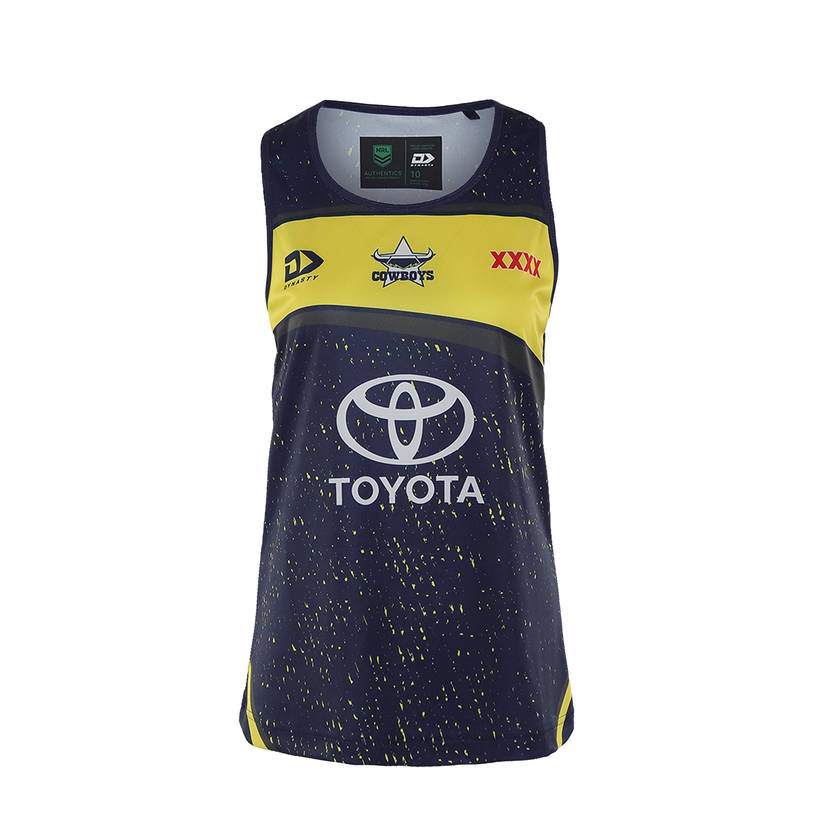 2021 Ladies Training Singlet - Navy/Yellow