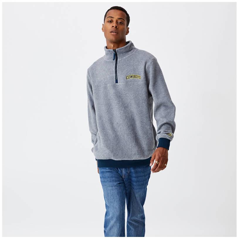 Mens Cotton On Textured 1/4 Zip Jumper0