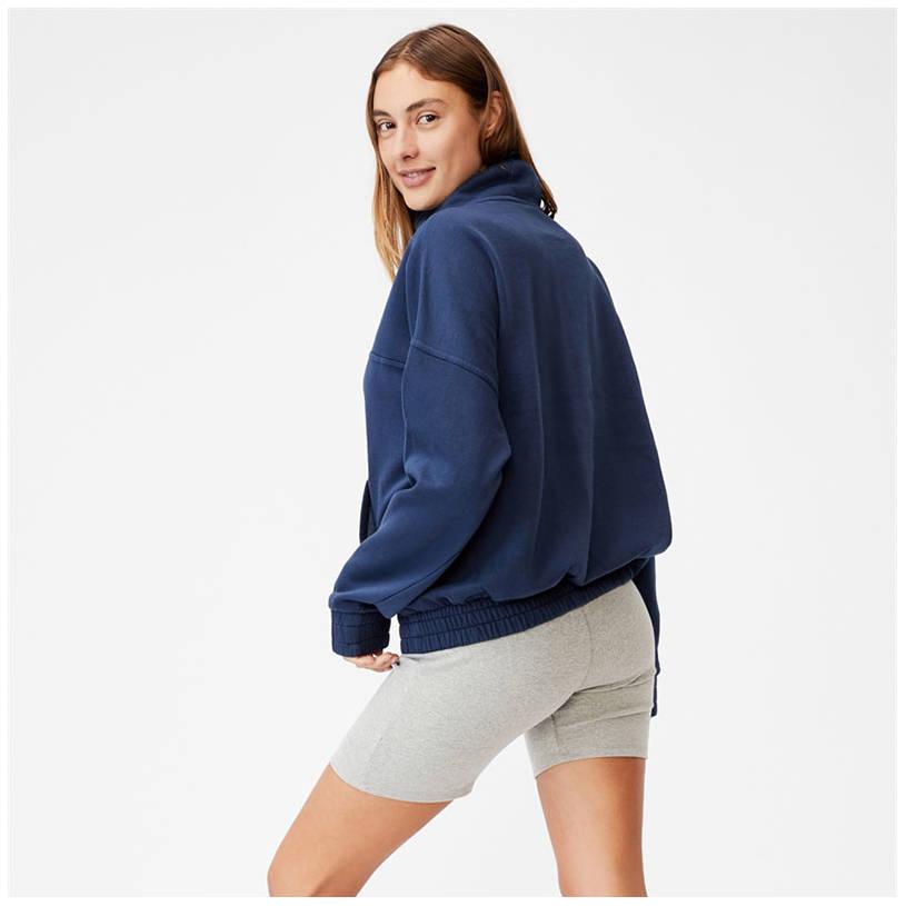 Ladies Cotton On Fleece 1/4 Zip Jumper1