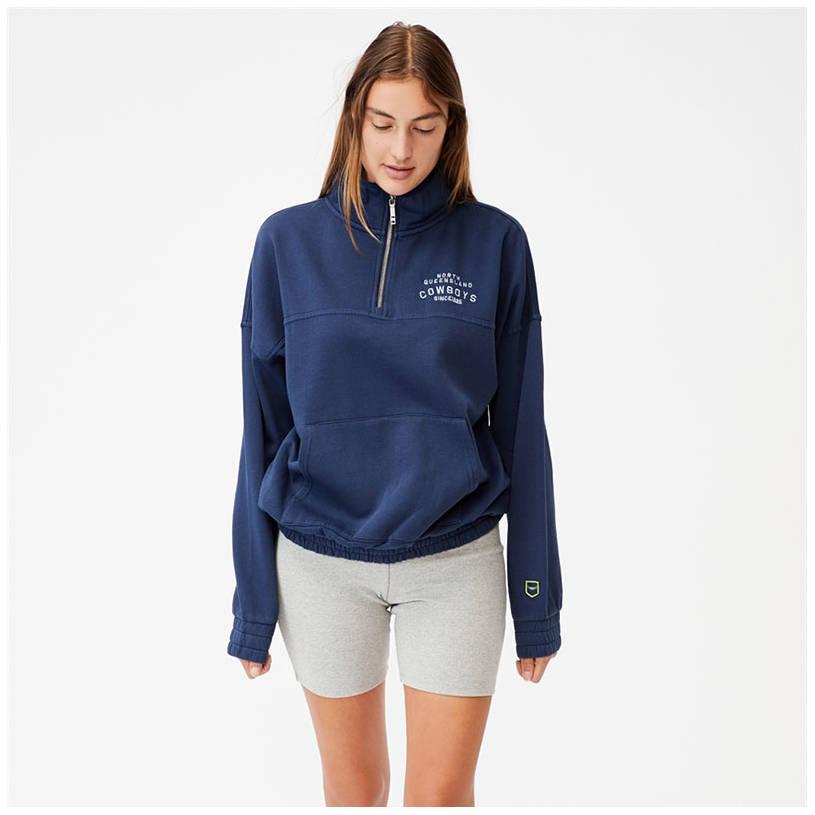 Ladies Cotton On Fleece 1/4 Zip Jumper0