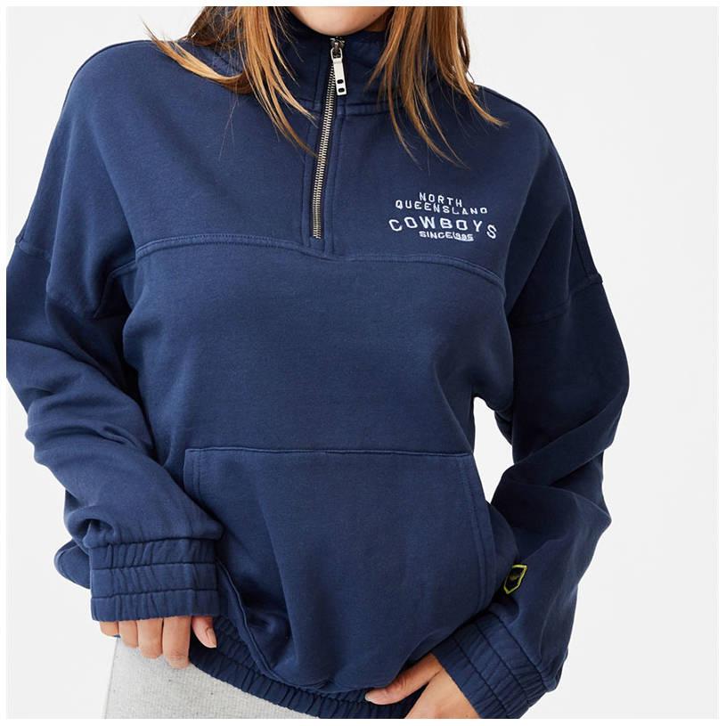Ladies Cotton On Fleece 1/4 Zip Jumper3