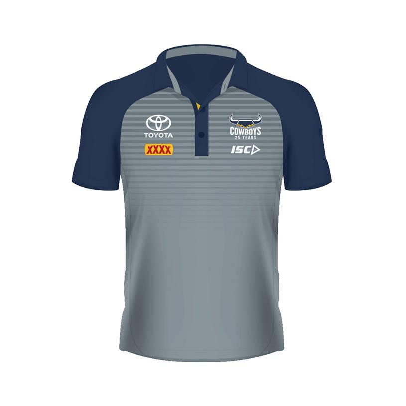 2020 Ladies Media Polo - Grey/Navy0