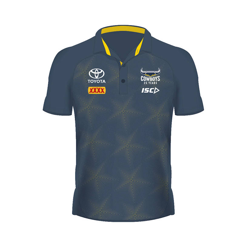 2020 Mens Performance Polo - Steel/Yellow0