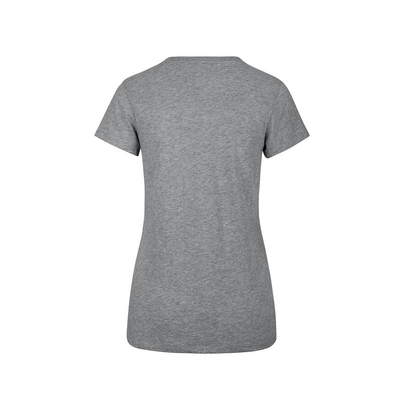 Ladies Grey Sparkle Dip Club Scoop Tee1