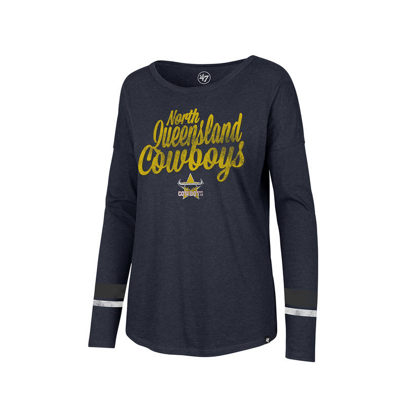 Ladies Club Courtside Stripe Long Sleeve Tee