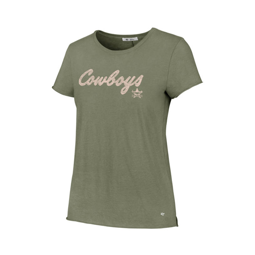 Womens Brand 47 Olive Fader Crew Tee0