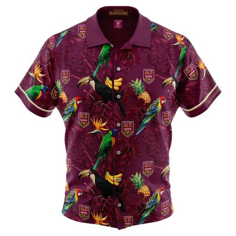 Kids State of Origin Hawaiian Shirt0