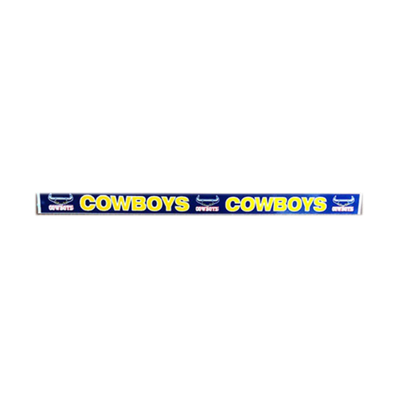 Cowboys Number Plate Sticker